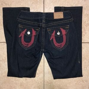 True Religion Men's jeans sz29 w red logo pockets